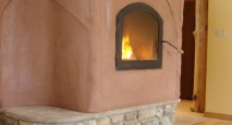 Eco-Friendly Earthen Fireplace Mantel