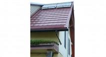 An energy-efficient solar hot water heater installation