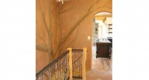 All-natural earthn plaster tree relief