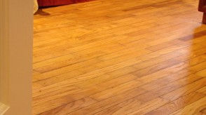 Healthy hardwoodfloor refinished using natural oils and waxes