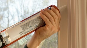 Sealing windows after blower door tests discover leaks