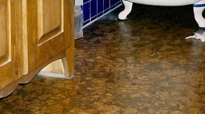 Close-up of ecological cork flooring