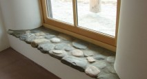 round stone custom window sill
