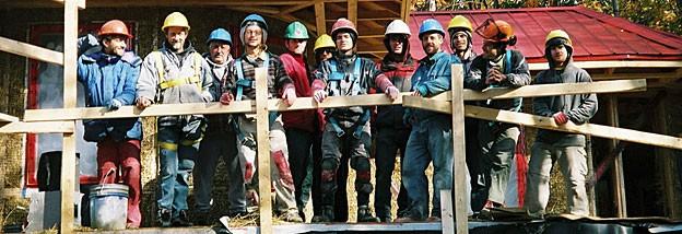 A team of energy efficient green contractors