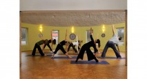Healthy natural finishes were used at this yoga retreat center
