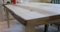 Live-Edge Custom Wood Table