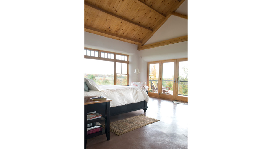 Timber Frame House with Straw Bale Walls, Clay Floors & Earth Plaster