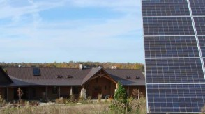 Off-grid home with renewable energy systems