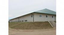 Straw bale arena near Guelph, Ontario
